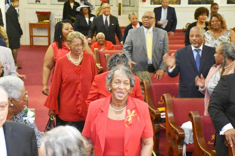 Senior Woman in Sunday Best at Church
